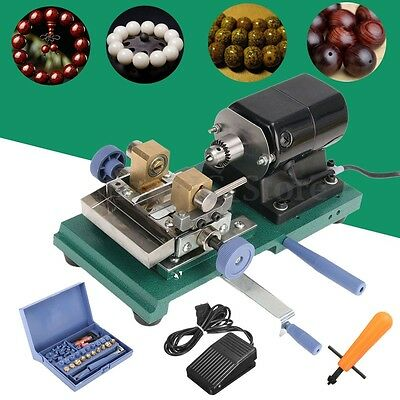 AU 110V Pearl Drilling Holing Machine Full Set Beads Driller Jewelry Punch Tools