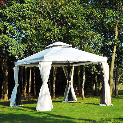 10x10ft Netting Mesh Patio Gazebo Canopy Garden Shelter Outdoor Party Event