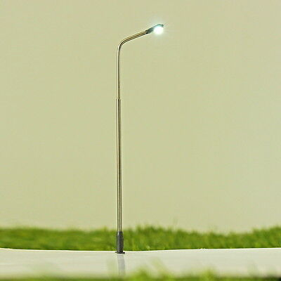 20PCS Model Railway Train Lamp Post Park Garden Street Lights Scale LED HO Gauge