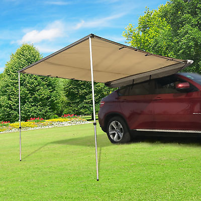 8.2 x 8.2ft Car Tent Awning SUV Vehicle Fold Out Awning UV-Resistant Waterproof