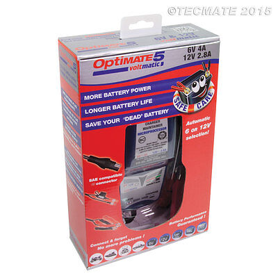 Optimate 5 Voltmatic 6v and 12v Battery Charger Maintainer 2019 Model (New)