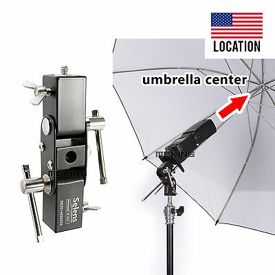 Selens adjustable Flash Shoe Umbrella Holder Light Stand L Bracket SE-L012