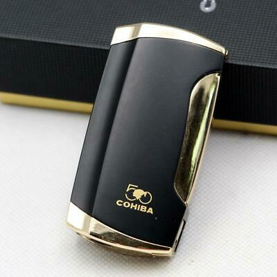 COHIBA  Black 2 TORCH JET FLAME CIGAR CIGARETTE LIGHTER With  Punch Gift
