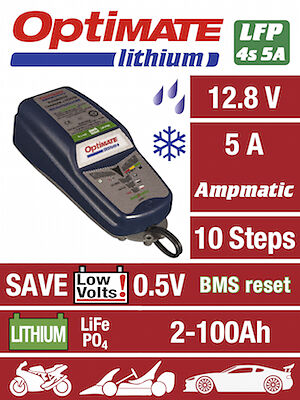 Optimate Lithium 5A Battery Charger protects LiFePO4 battery (New) 2019 NEW