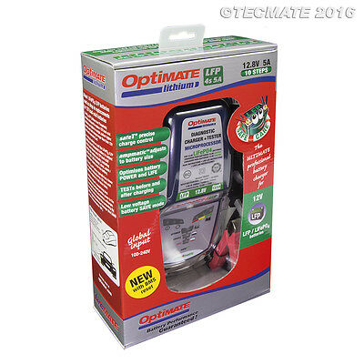 Optimate Lithium Battery Charger protects your LiFePO4 battery 2019 Model (New)