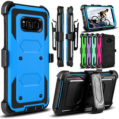 For Samsung Galaxy Note 8/S8 Plus Case Belt Clip Holster Kickstand Armor Cover