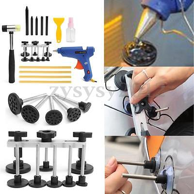 Dent Repair Car Paintless PDR Tools Hail Puller Lifter Glue Removal Hammer Kits