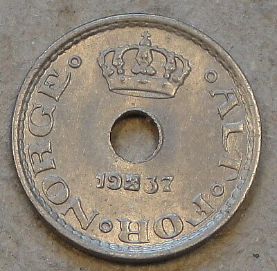 Norway 1937 Ten Ore Unc-BU as Pictured