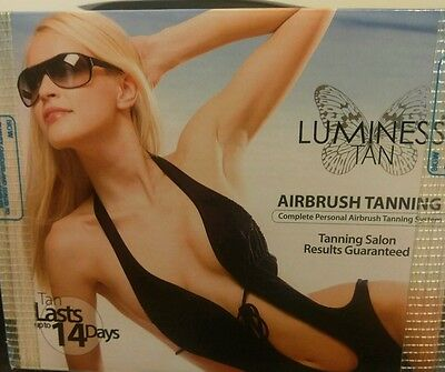 Complete Airbrush Tanning Kit - 2 Refills - Flawless Tan In 30 Mins! Made In Usa