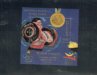 Moldova 1992 Olympic Games Medal Winners MS Unmounted mint