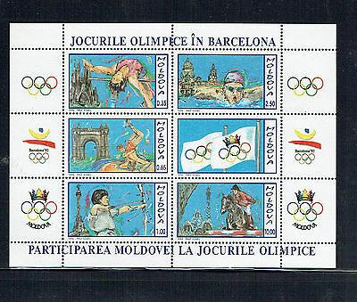 Moldova 1992 Olympic Games MS Unmounted mint