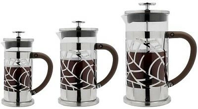 Grunwerg Cafe Ole Floral Cafetiere 3, 6 & 8 Cup Stainless Steel French Press