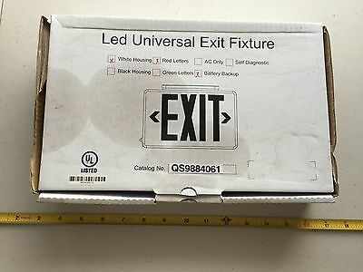 L594 LED Universal Exit Sign w/ Emergency Battery Backup Lighting Red Letter
