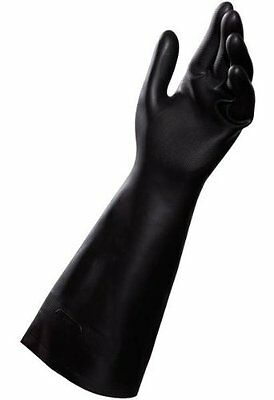 MAPA Technic NS-450 Neoprene and Natural Latex Glove Size 8 Black 12Pk