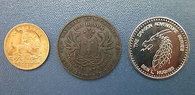 1790's City of Dundee Coat of Arms Dragon Scotland 1/2 Penny Conder Token +Bonus