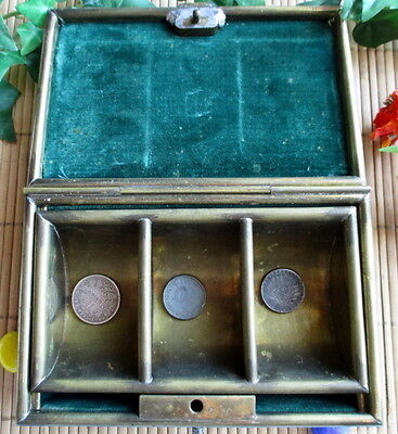 Toll ! Geldkassette, Jugendstil, Art Deco, Messing, Gitter, old deedbox  # 068