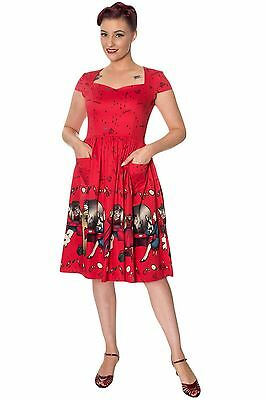 Dancing Days Red Vanity 50's Swing Dress with Pockets REDUCED TO CLEAR