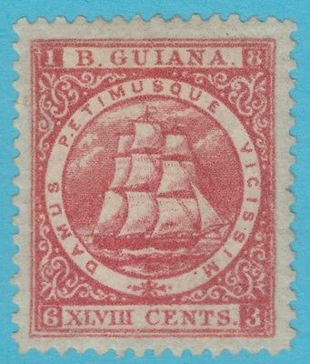 British Guiana 66 1863 Sg 84 Mint Hinged Og Superb !