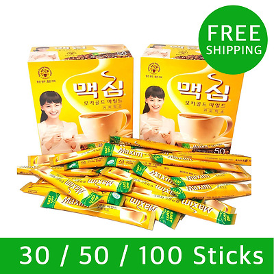 DongsuhKorean Instant Coffee Mix Maxim Mocha Gold Mild 12g 30/50/100 Sticks