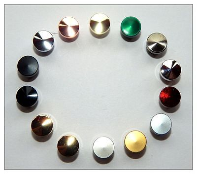 Woodturning Slimline Pen Caps - Gold / Silver / Chrome etc Many Colours