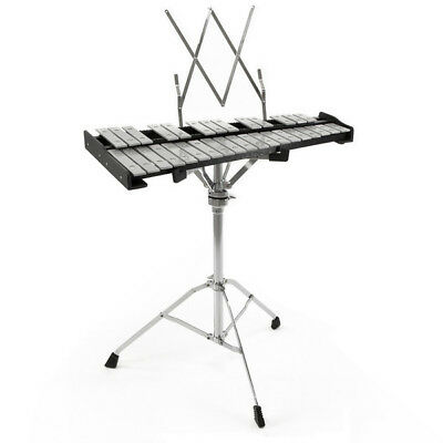 32 Note Orchestral Glockenspiel by Gear4music with Stand & Case