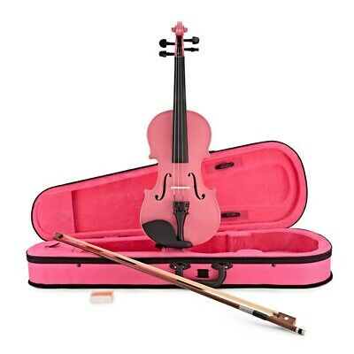 Student Full Size Violin Pink by Gear4music