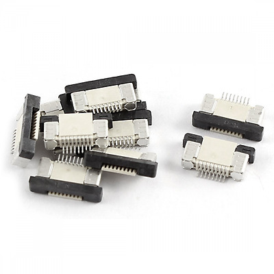 Bottom Port 8Pin 0.5mm Pitch FFC FPC Ribbon Sockets Connector 10 Pcs
