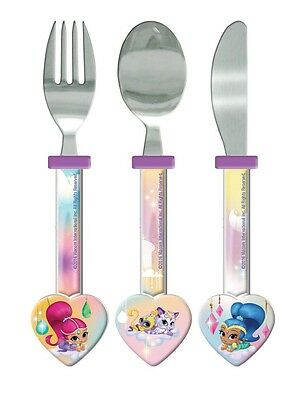 Shimmer And Shine 'Heart Shaped' Cutlery Brand New Gift