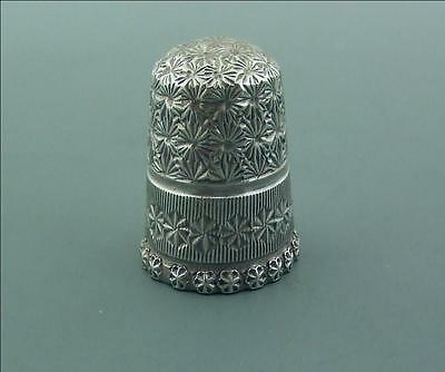 Victorian English Silver Thimble Very Good Size 6 J T & S Chester