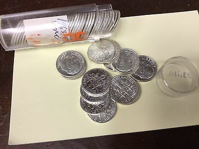 Roll Of Silver Dimes,  1963P Uncirculated 90% Silver