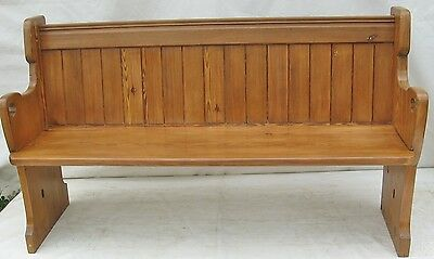 A Victorian pitch pine Church Pew/Settle/Bench/seat