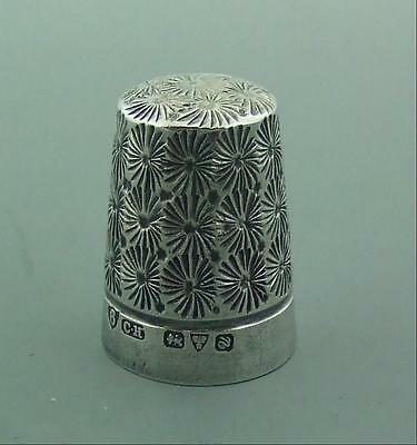 English Silver Thimble Excellent Charles Horner Chester 1913