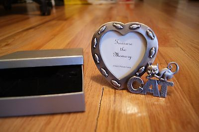 Pewter Cat Kitten Picture Frame