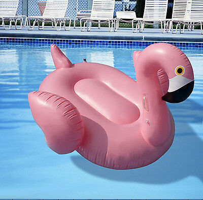 Giant Inflatable Flamingo Pool Toys for Kids Ride On Blow Up Water Beach Lake