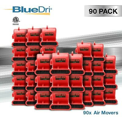 90 Pack BlueDri ONE-29 Air Mover Carpet Dryer Floor Blower Fan for Water Damage