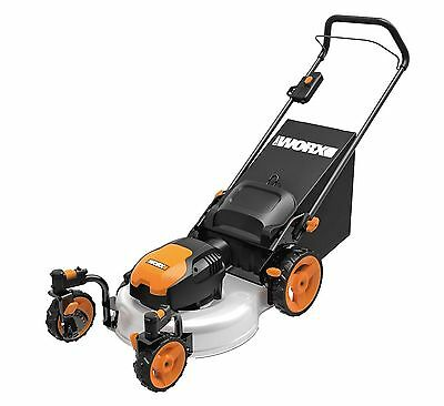 """WG719 WORX 19"""" 13 Amp Caster Wheeled Electric Lawn Mower"""