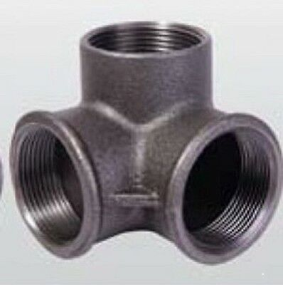 """1-1/4"""" Side Outlet Elbow DEG 90° BLACK MALLEABLE IRON fitting pipe npt"""