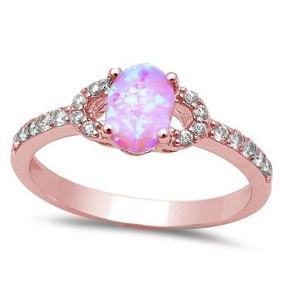 Rings B2033r Ring Silver Plated Flower Of Pink Zirconia Crystal And Blue Crystals