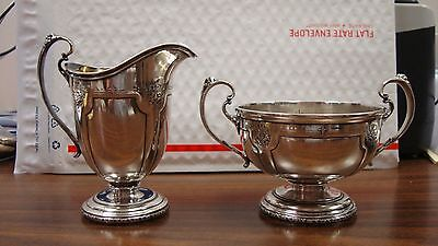 Towle Sterling Silver 2-Piece Set Creamer & Sugar Bowl Louis Xiv Tea Coffee Set
