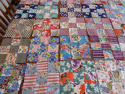 130 VINTAGE 1930s QUILT BLOCK LOT ANTIQUE COTTON FABRIC FEEDSACK