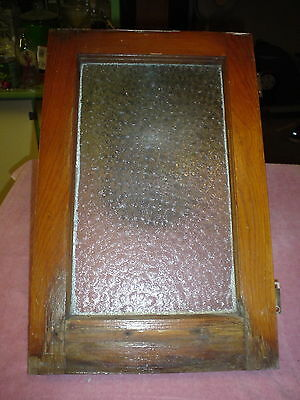 Antique Vintage Florentine Glass Privacy Window Old Cottage Chic