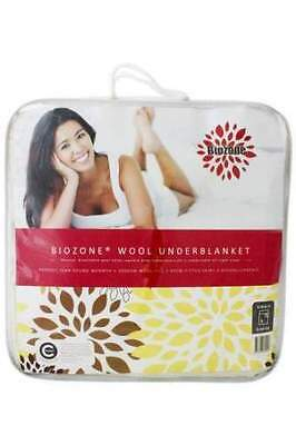 Crestell Biozone Wool Reversible Underblanket| Underlay| Topper -All Sizes
