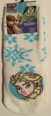 Girls Thick White Slipper Socks with Disney Frozen Elsa detail