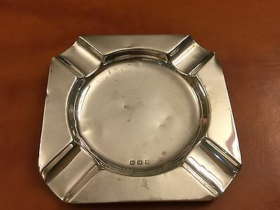 Solid silver ashtray 1911/12 Birmingham hallmark