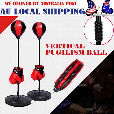 Hanging Boxing Punching Bag Speedball Ball w/ Gloves Xmas Gift for Kids Boys -HG