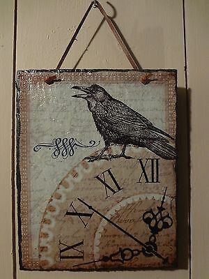 Raven Slate Wall Plaque