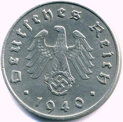 Nazi German Zinc 10 Pfg Coin-VG Condition Own a piece of History