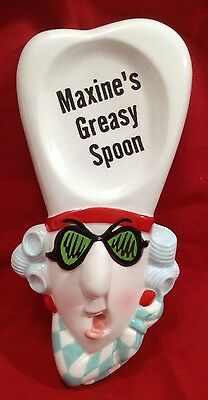 Hallmark Maxines J Wagner Greasy Spoon 81/2 inch Ceramic Spoon Rest Mothers Day