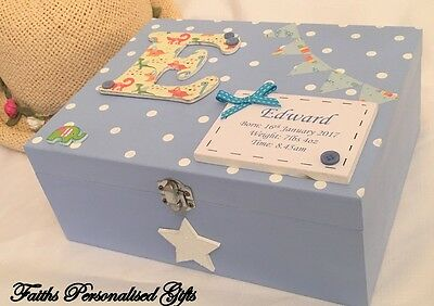 *baby*personalised Birth/christening/baby Shower Gift Keepsake Memory Wooden Box