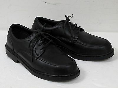 Used RED WING Mens 6612 Black Leather Work Shoes w Steel Toe SZ 10 EE Made USA